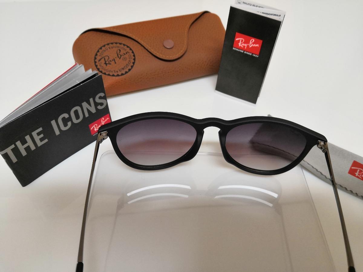 a0ac483949a93 Óculos De Sol Ray-ban Érika Rb4171 Preto Clássico - R  290