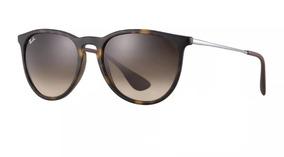 139aed0b9 Ray Ban Oculos De Sol Preto Brilhante Erika - Óculos no Mercado Livre Brasil