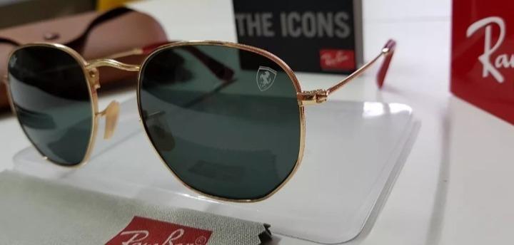 664c30519 Óculos Sol Ray-ban Hexagonal Flat Rb3548 Preto Sc. Ferrari. - R$ 219 ...