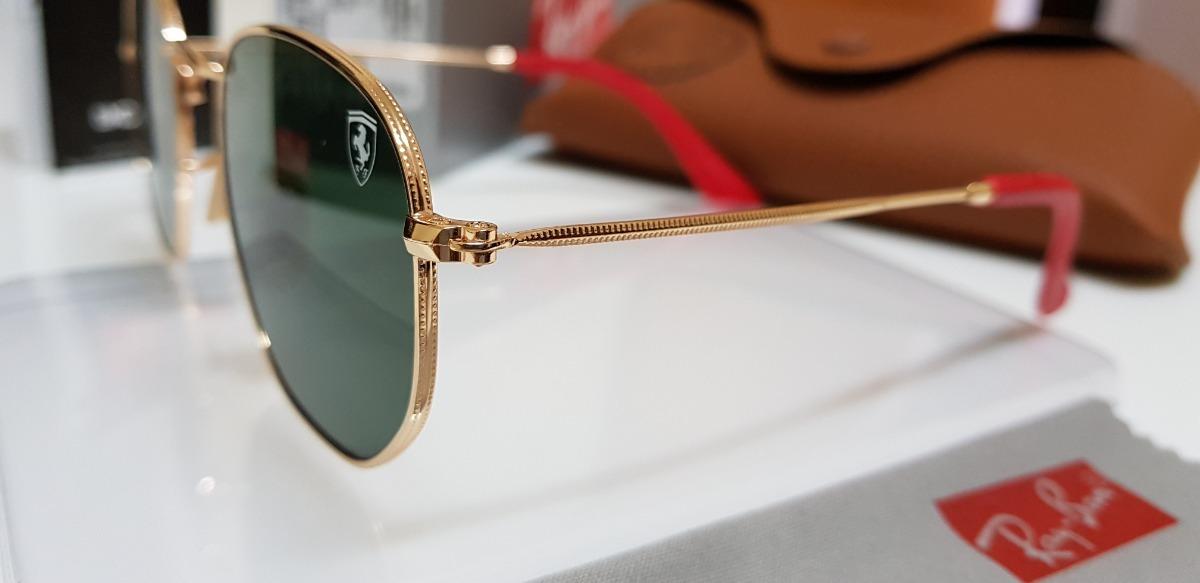 óculos sol ray-ban hexagonal flat rb3548 verde sc. ferrari. Carregando zoom. 90c1b25c96