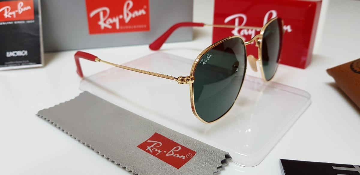 eb6ebf6d5c6ca óculos sol ray-ban hexagonal rb3548 ferrari g15 com dourado. Carregando  zoom.