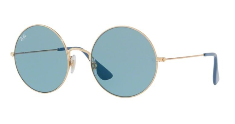 fa2235bff6790 Oculos Sol Ray Ban Ja Jo Rb3592 001 f7 55 Dourado Lente Azul - R ...