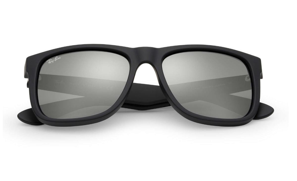 9cf71cb2f óculos sol masculino ray ban justin rb4165 azul espelhado. Carregando  zoom... óculos sol ray ban justin. Carregando zoom.