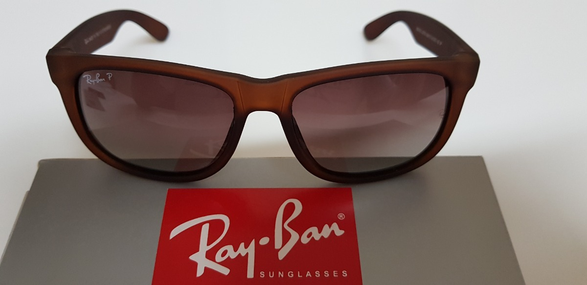 Óculos De Sol Ray-ban Justin 4165 Marrom Degradê Original. - R  240 ... c0e015433f