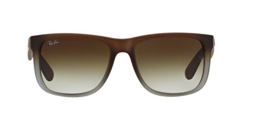 Oculos Sol Ray Ban Justin Rb4165 854 7z Marrom Cinza Fosco - R  399 ... c9014287c1