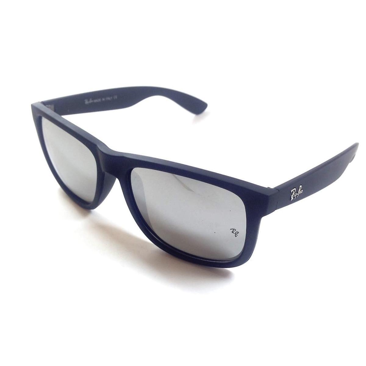 3787e83ceb6b5 óculos sol ray ban justin rb4165 prata espelhado polarizado. Carregando  zoom.