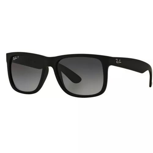 Óculos Sol Ray Ban Justin Rb4165 Preto Masculino Original - R  219 ... 6ef6022d83