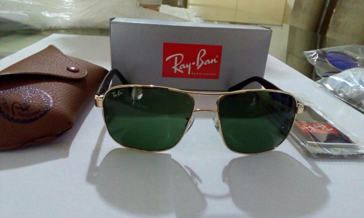 622c3f5c19f4f óculos sol ray ban lente cristal endurecida rb3516 original. Carregando  zoom.