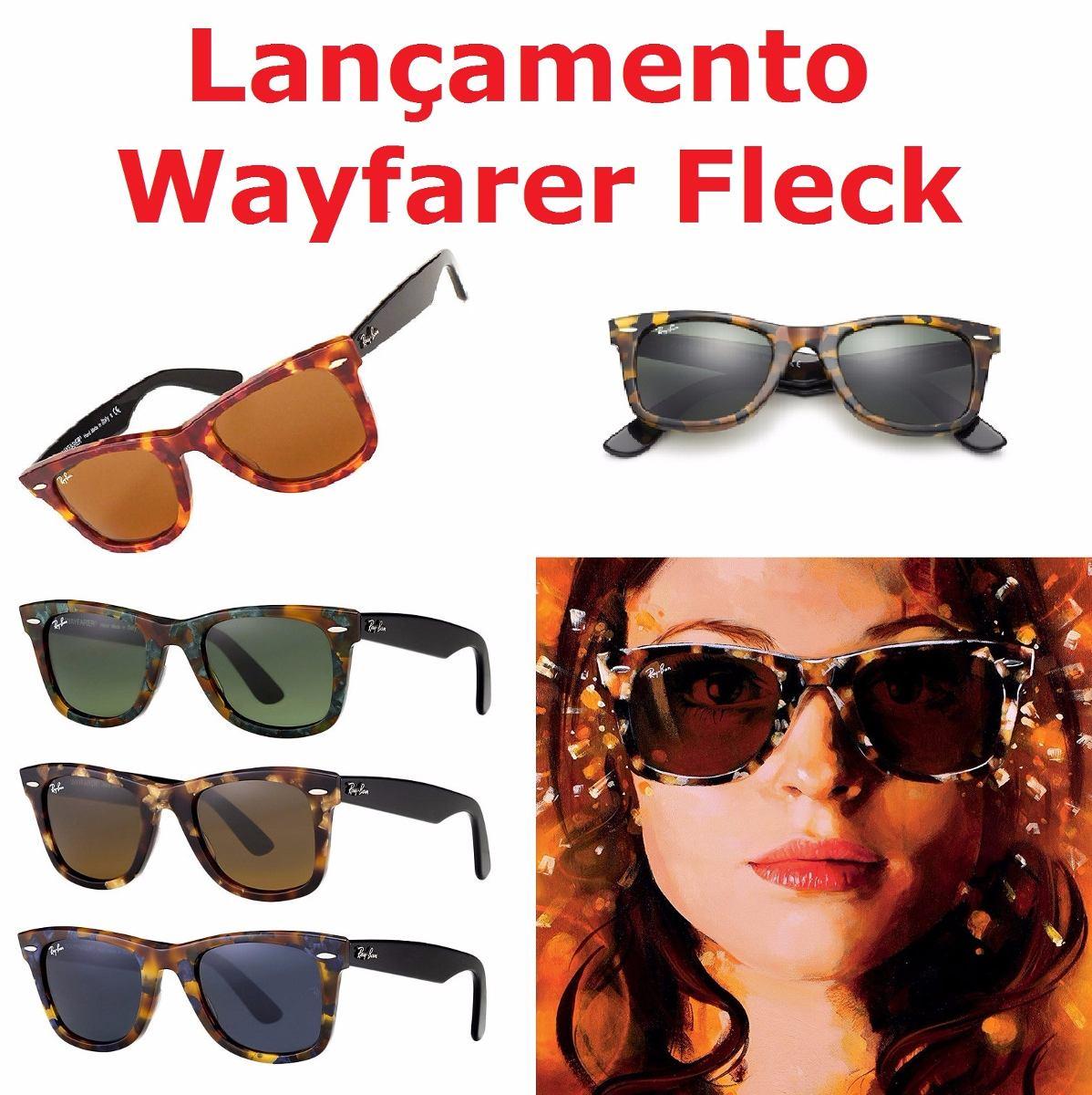 7770ff983b06f ... norway óculos sol ray ban rb2140 wayfarer fleck tartaruga 50mm m.  carregando zoom. 3ffcd