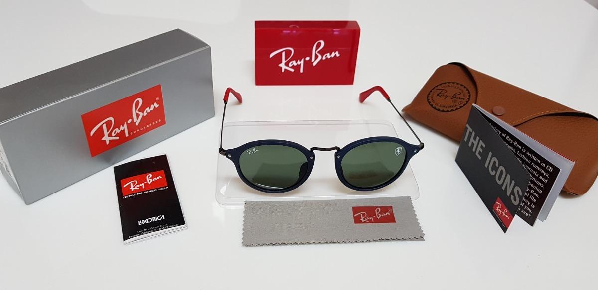 2260ec5da25 Óculos Sol Ray-ban Rb2447 Scuderia Ferrari Azul E Verde G15 - R  320 ...
