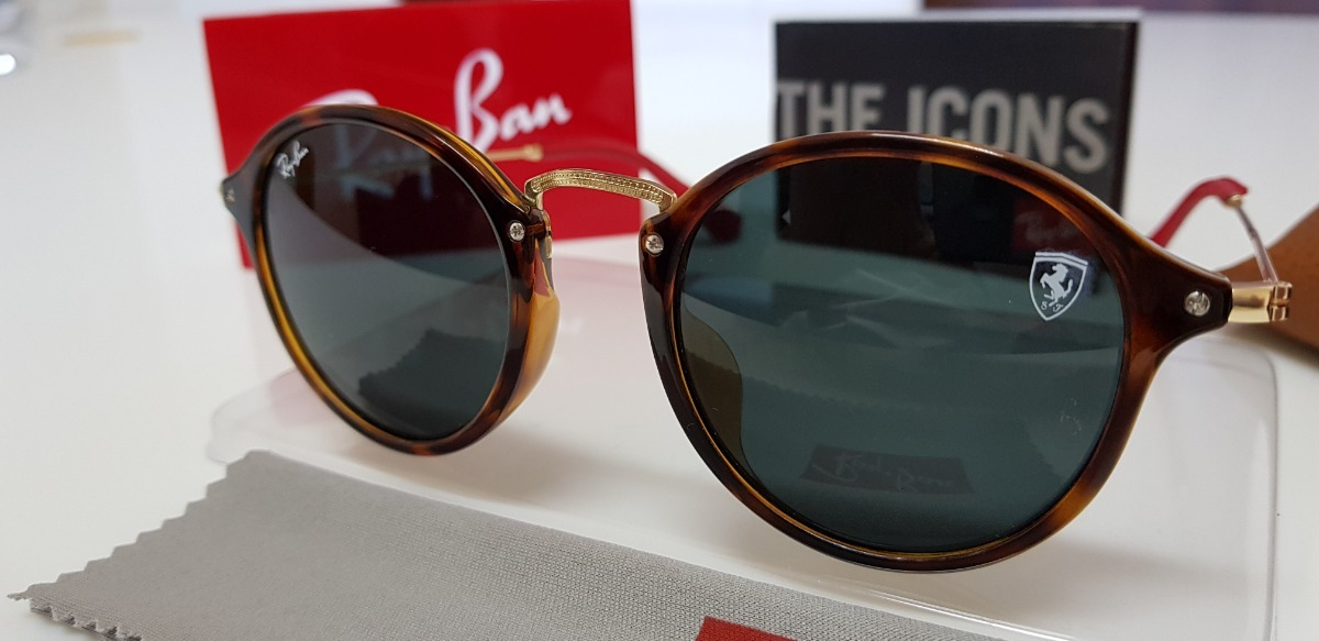 óculos sol ray-ban rb2447 scuderia ferrari lente cinza. Carregando zoom. abcc3ab993