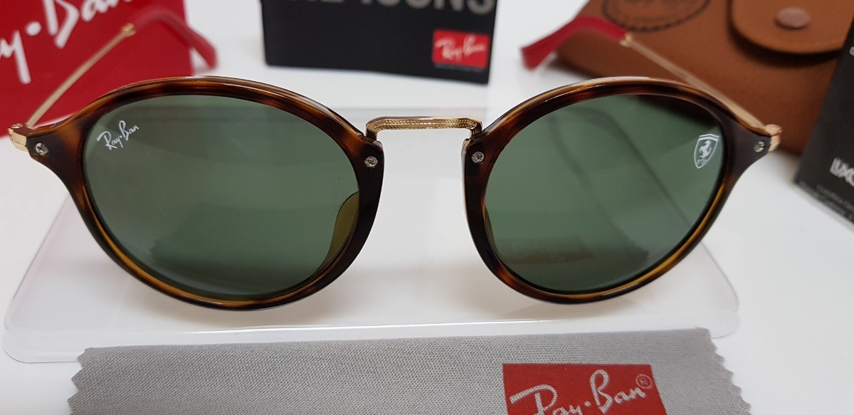 8c485c0584e óculos sol ray-ban rb2447 scuderia ferrari lente verde g15. Carregando zoom.