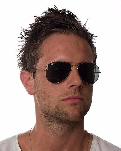 óculos sol ray ban rb3025 aviador dourado polarizado 58 62 g