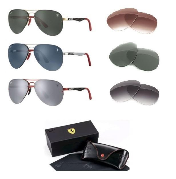 Óculos Sol Ray-ban Rb3460 M Aviador Flip Out Ferrari Lentes - R  369 ... ff25878bdd