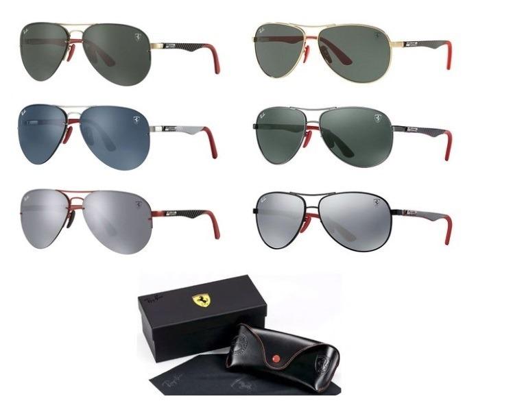 15ccf24b44371 Óculos Sol Ray-ban Rb3460 M Aviador Flip Out Ferrari Lentes - R  369,00 em  Mercado Livre