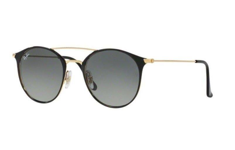 8c502ca0d1406 oculos sol ray ban rb3546 187 71 preto dourado cinza degradë. Carregando  zoom.