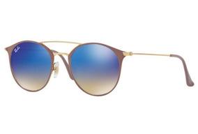 d42bec755 Oculos Sol Ray Ban Rb3546 90118b 52mm Bege Azul Degradê Espe