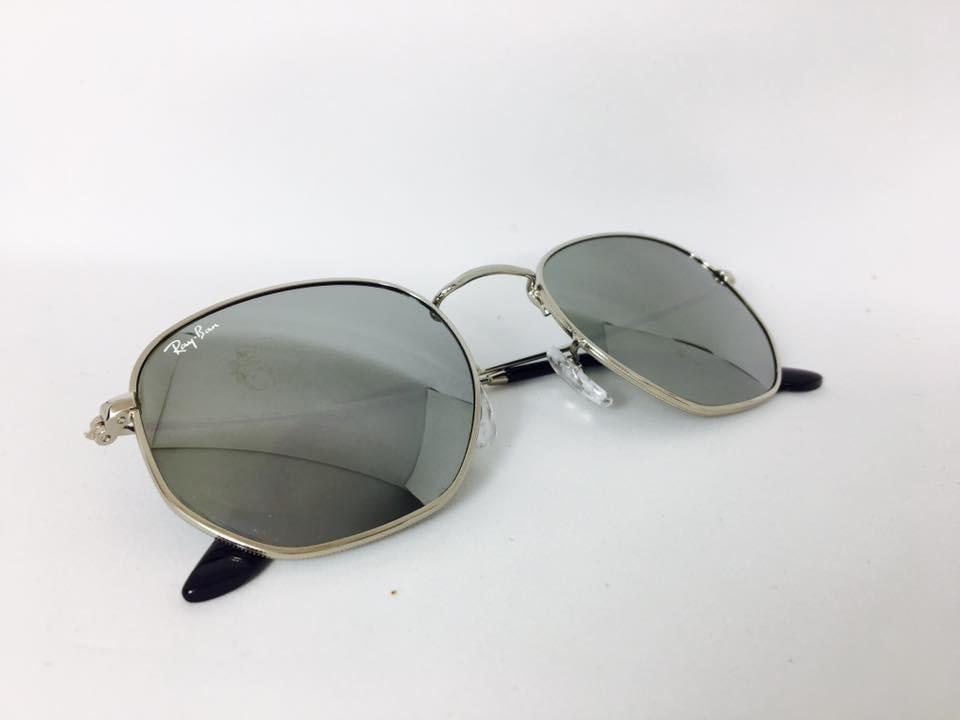 óculos sol ray-ban rb3548 hexagonal original prata espelhado. Carregando  zoom. 865808f3c2