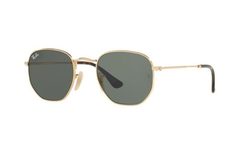 23a6256ffd5a8 oculos sol ray ban rb3548n 001 51 dourado lente verde g15. Carregando zoom.