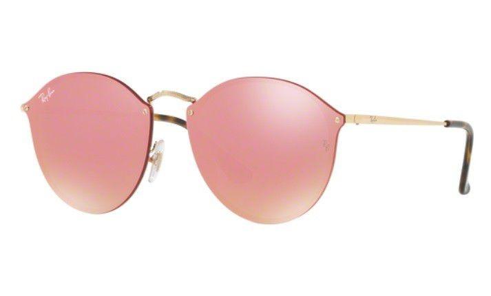 ebd753a2538ac Oculos Sol Ray Ban Rb3574n 001 E4 59mm Dourado Rosa Espelhad - R ...