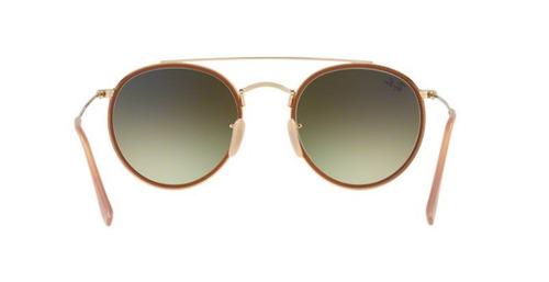 Oculos Sol Ray Ban Rb3647n 001 70 Dourado Rosa Espelhada Deg - R ... 72f454e275