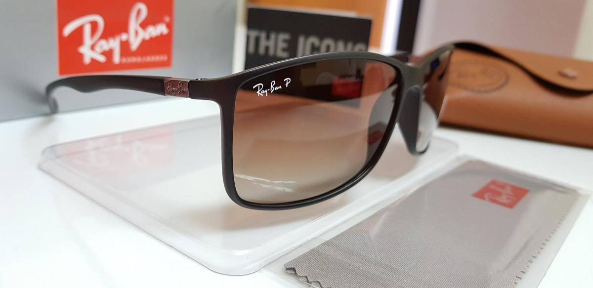 f57ee9fbd9 óculos sol ray ban rb4179 liteforce marrom degradê classic. Carregando zoom.