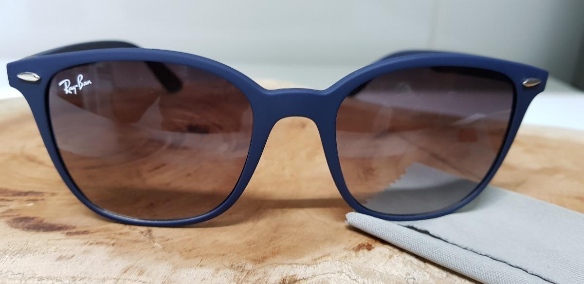 bdf37c96d64c9 Óculos Sol Ray-ban Rb4297 Azul Com Cinza Degradê Liteforce - R  290 ...
