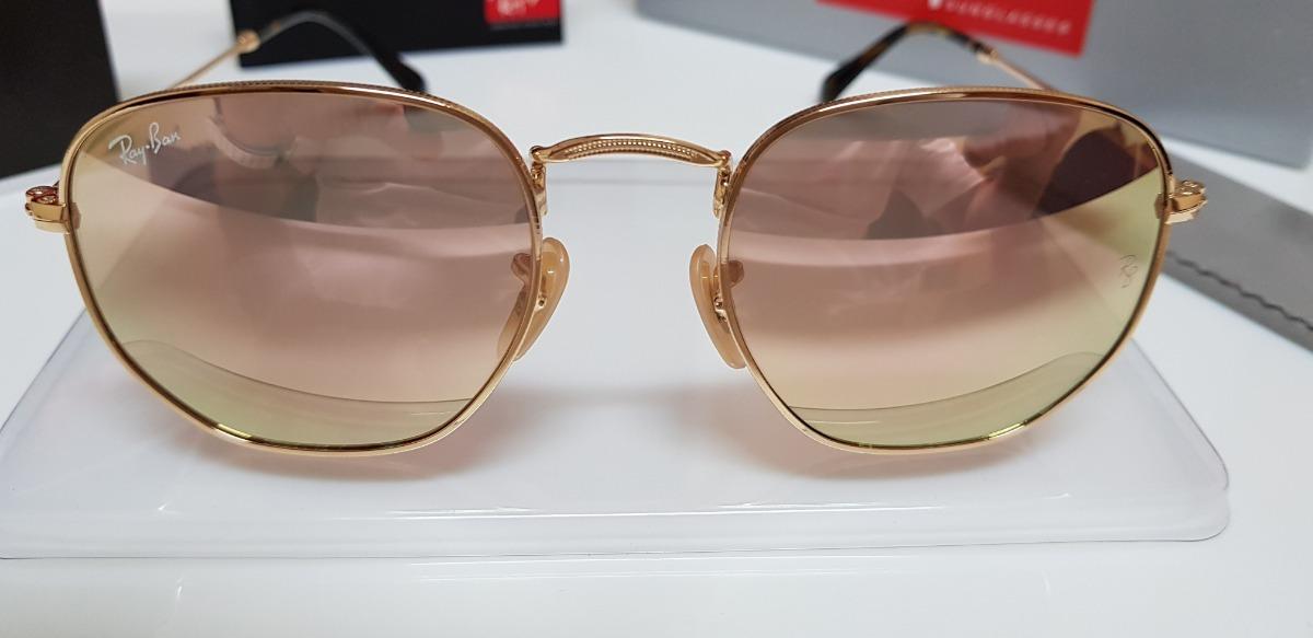 Óculos De Sol Ray-ban Hexagonal Metal Rb3548n Rosê Espelhado - R  290,00 em  Mercado Livre e866f9b181