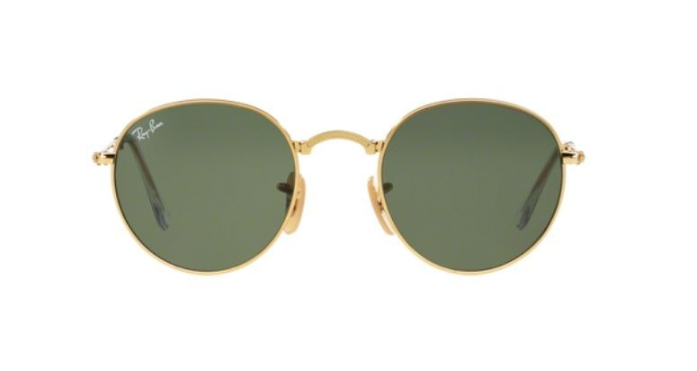 Oculos Sol Ray Ban Round Dobravel Rb3532 001 53 Dourado Verd - R ... 190506020a