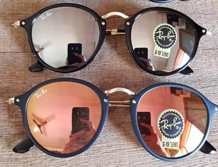 7f960c99ef9b1 Promoção Óculos De Sol Ray Ban Round Fleck Espelhados (novo) - R ...