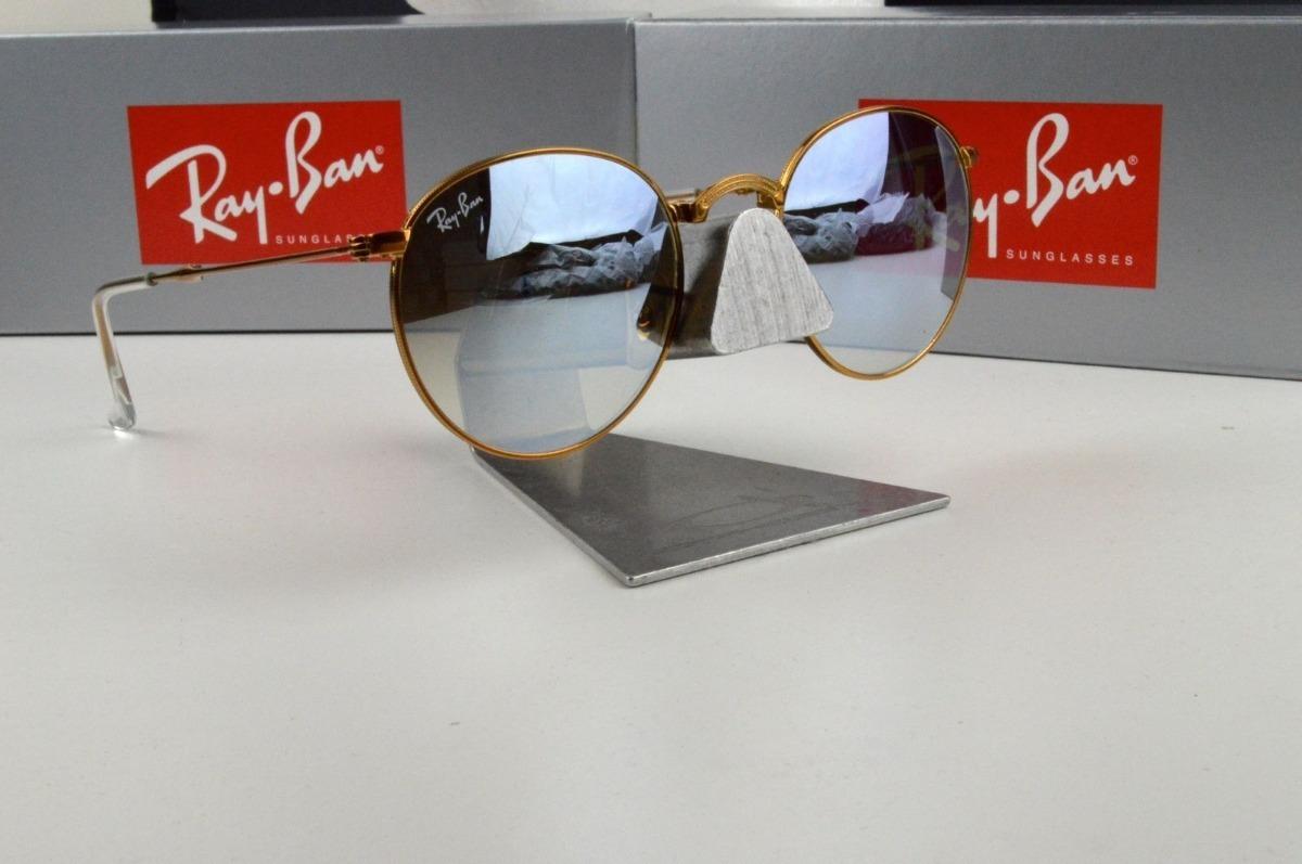 Oculos Sol Ray Ban Round Dobravel Rb3532 198 9u Bronze - R  699,00 ... 1ebb2982a1
