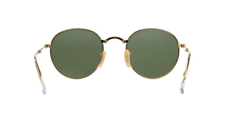 0b3f43ec6 Oculos Sol Ray Ban Round Dobravel Rb3532 001 53 Dourado Verd - R ...