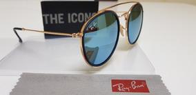 df96dadfd Oculos Redondo Espelhado Azul Rayban - Óculos De Sol no Mercado ...