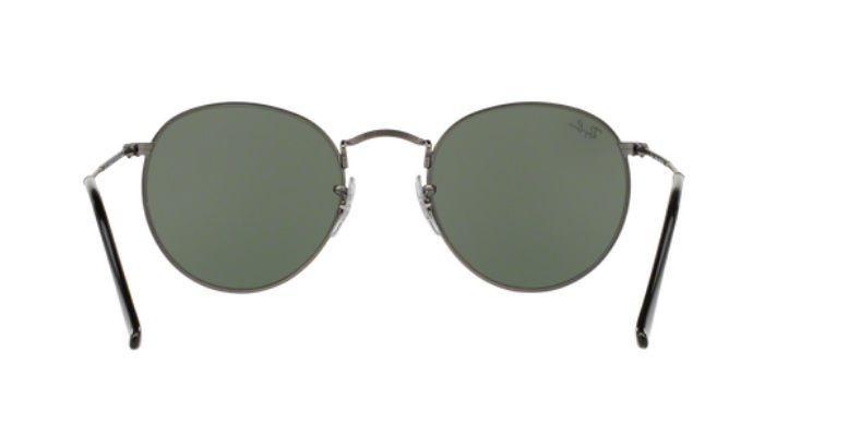 Oculos Sol Ray Ban Round Metal Rb3447 029 53mm Grafite Verde - R ... 856798d487cf