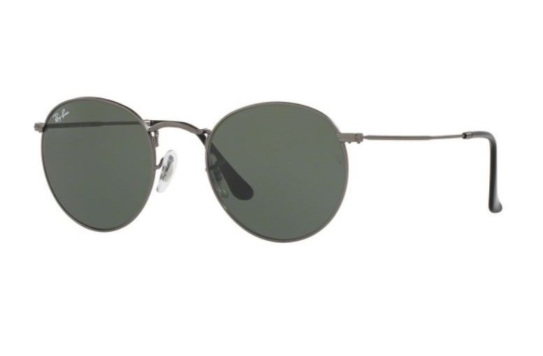 a37afd43c01bf Oculos Sol Ray Ban Round Metal Rb3447 029 53mm Grafite Verde - R ...