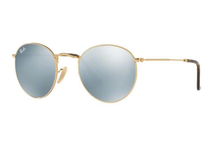 829f9078a Oculos Sol Ray Ban Round Metal Rb3447nl 001/30 50 Dourado - R$ 539 ...