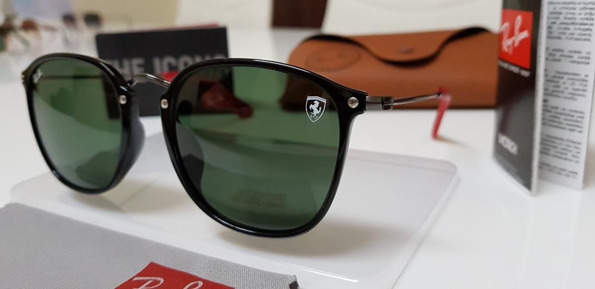 7489850fd82 Óculos Sol Ray-ban Scuderia Ferrari Rb2448 Aço Preto   G15 - R  369 ...