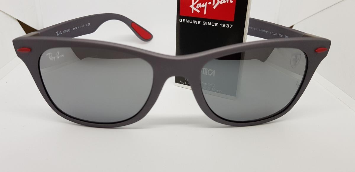 e14df9b6e13 óculos sol ray-ban scuderia ferrari rb4195 cinza espelhado. Carregando zoom.