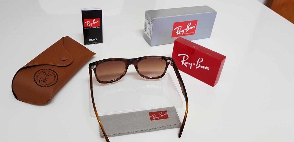 eb37bf32c5e3a Óculos Sol Ray-ban Blaze Wayfarer Nylon Rb4440 Marrom Tartar - R  320,00 em  Mercado Livre