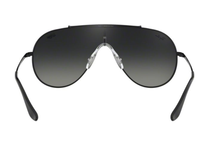 oculos sol ray ban wings rb3597 002/11 preto lt cinza degrad