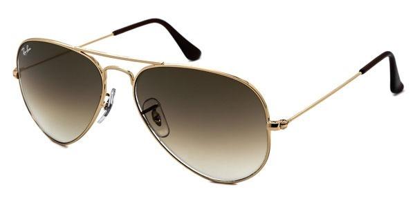 f2323f2a795ef Óculos Sol Rayban Aviador 3025 3026 Dourado Marrom Degrade - R  249 ...