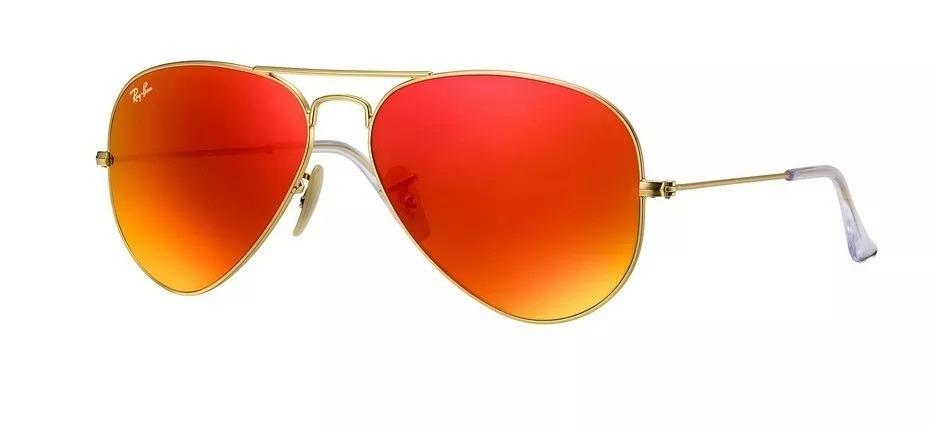 a8a61aeac00b3 oculos sol rayban aviador lente cristal vermelho espelhado. Carregando zoom.