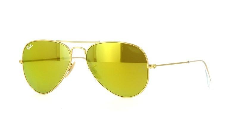 1af66e72aa4c3 óculos sol rayban aviador rb3025 dourado amarelo espelhado. Carregando zoom.