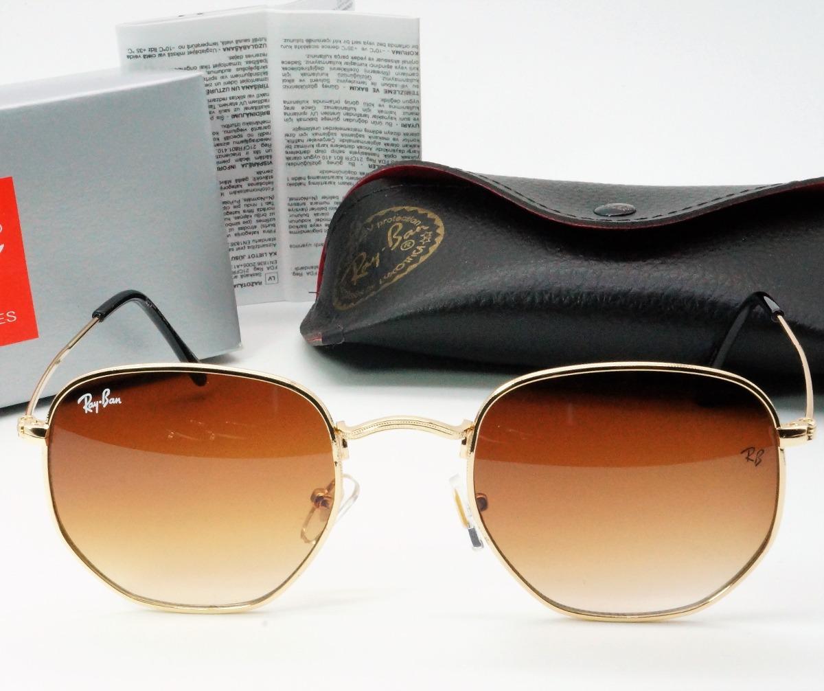 aa7e2b505a06c oculos sol rayban hexagonal marrom espelhado feminino 2018. Carregando zoom.