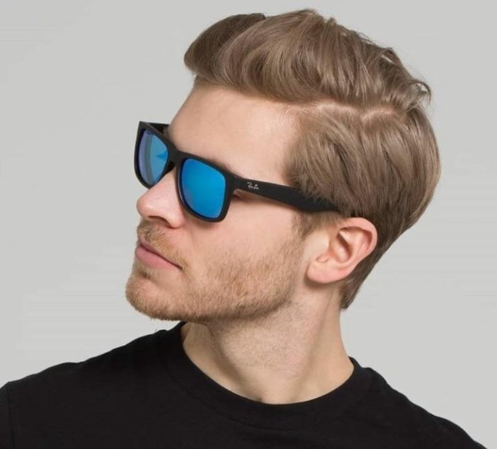 9d726be97 Oculos Sol Rayban Justin 4165 Azul Espelhado / Frete Gratis - R$ 120 ...
