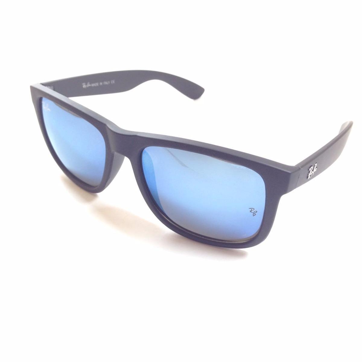 9193e4120 oculos sol rayban justin 4165 azul espelhado / frete gratis. Carregando zoom .