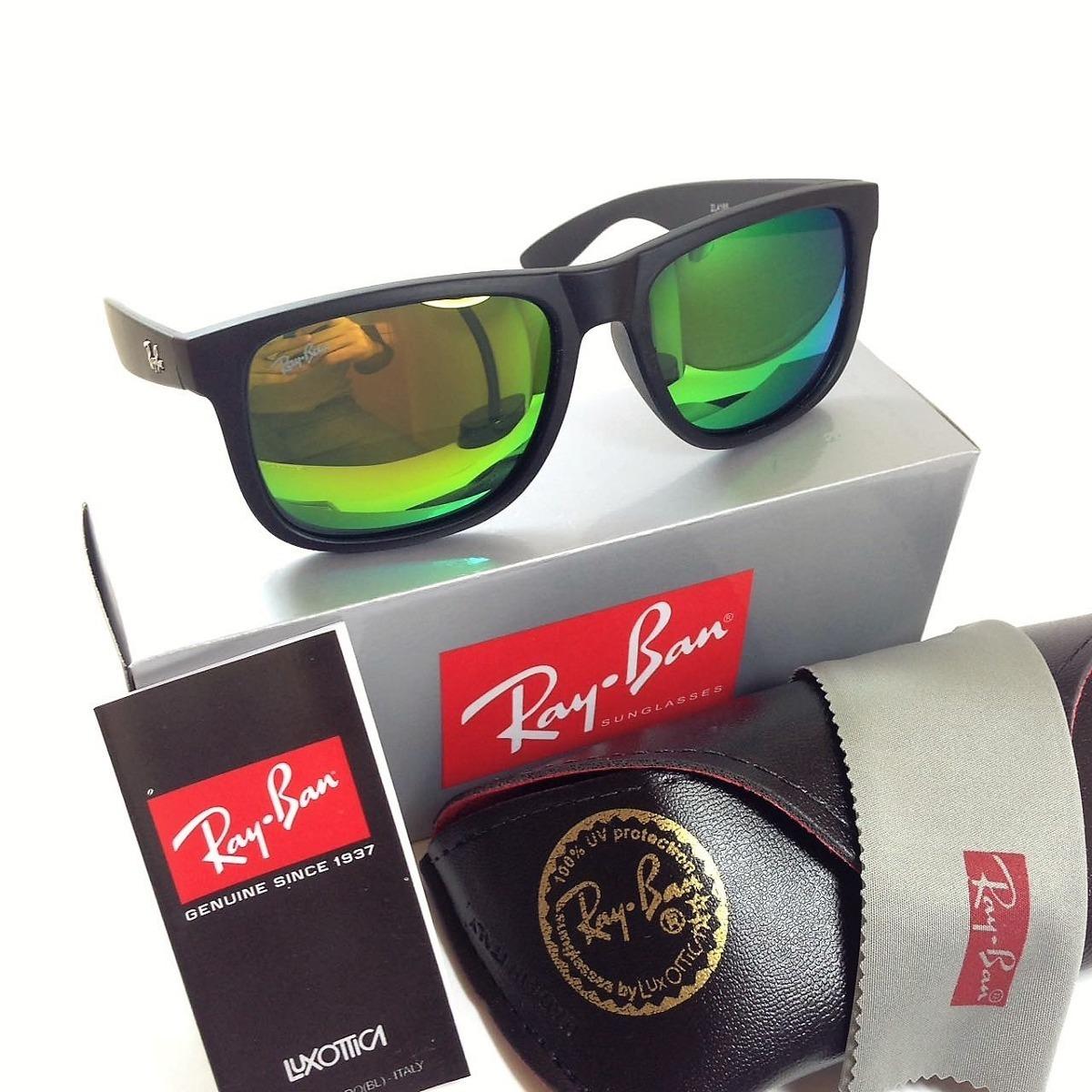 b7c070493 ... canada oculos sol rayban justin verde espelhado 100 polarizado. carregando  zoom. 20b6f 7f273