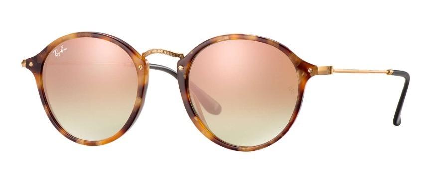 5983ce112346f óculos sol rayban rb2447 1160 7o round fleck marrom tartarug. Carregando  zoom.