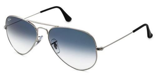 f517353da5e14 Óculos Sol Rayban Top Aviador Rb3025 Prata Azul Degrade Orig - R ...