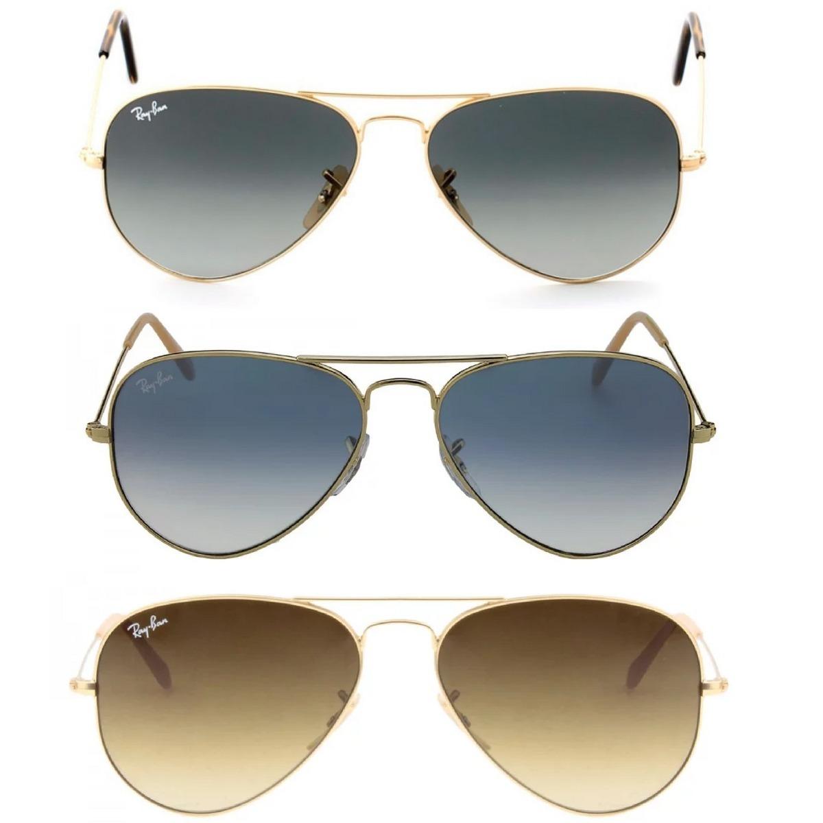 oculos sol rb aviador degrade original feminino mascu p m g. Carregando  zoom. eae38e2ed8
